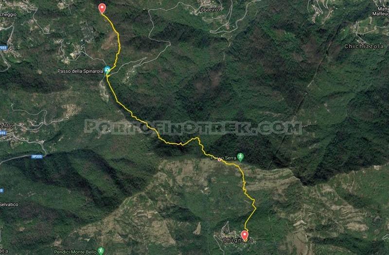 Chignero - Passo Serra - Passo della Spinarola - Monte Tugio