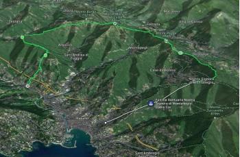 Montallegro - Monte Pegge - Manico del Lume - Caravaggio - Santa Maria del Campo