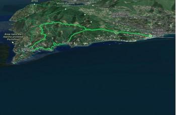 Santa Margherita - Nozarego - Olmi - Portofino - Paraggi - Cappelletta delle Gave -S. Margherita