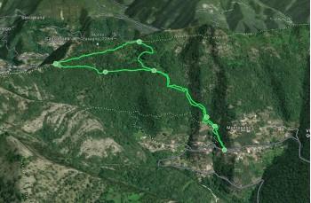 Mappa 3d anello corto di Montepegli e Remenon