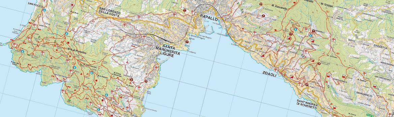 I sentieri principali del Monte di Portofino