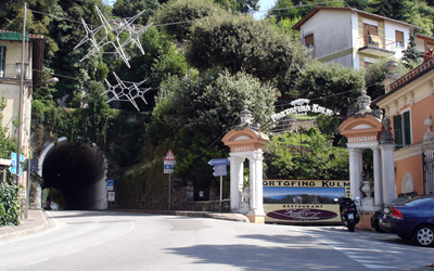Access road to Portofino summit