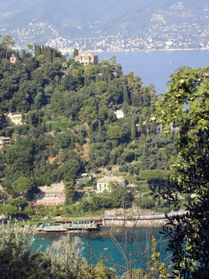 Bay of Paraggi seen from Monte di Portofino