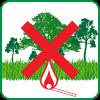 forbidden to light fires