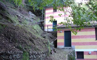 mulino restaurato nel Parco di Portofino