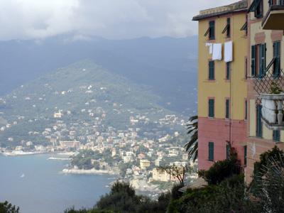 panorama from San Rocco di Camogli