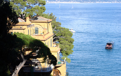 view from the Paraggi-Portofino pedestrian